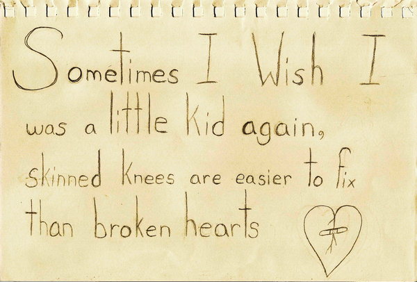 skinned knees vs broken heart